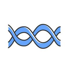 Interlaced waves color icon music rhythm vector