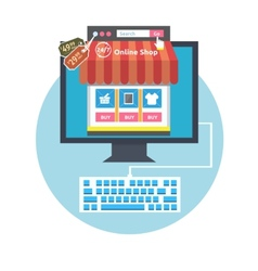 Internet shopping process vector image