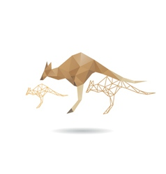 Kangaroo abstract isolated vector