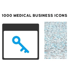 Key Calendar Page Icon With 1000 Medical Business vector
