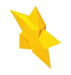 Magic Star icon isometric 3d style vector