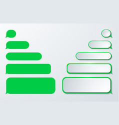 modern sms or message icons Bubble speech vector image