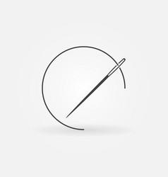 Needle with thread icon vector