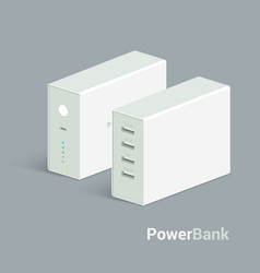 powerbank icon on white background vector image