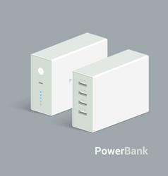 powerbank icon on white background vector image