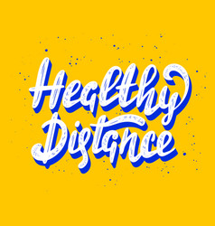 Quarantine lettering with quote for posters vector