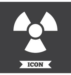 Radiation sign icon Danger symbol vector image