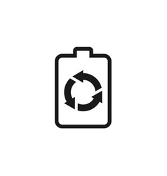 Recycled battery icon logo simple minimalist vector