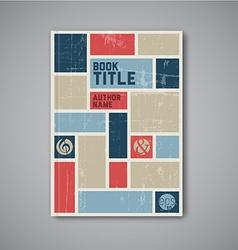 Retro abstract brochure design template vector