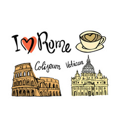Rome landmark seamless vector