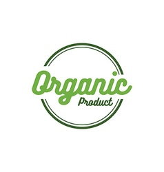 round retro grunge label for bio organic product vector image