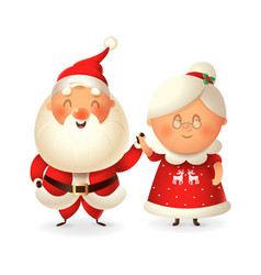 santa claus and his wife mrs claus vector image