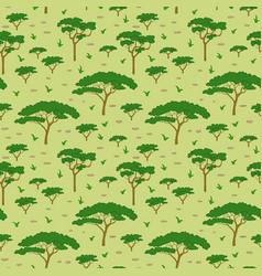 Savanna tree pattern vector