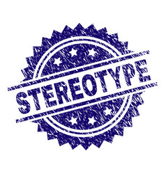 scratched textured stereotype stamp seal vector image