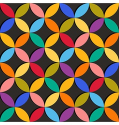 Seamless geometric pattern with colorful elements vector image