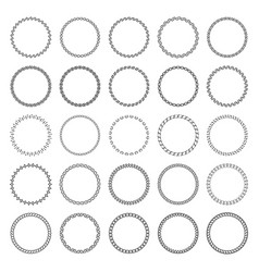 set decorative circular frames vector image