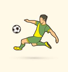 soccer player somersault kick overhead kick vector image