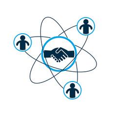 successful business creative logo handshake vector image
