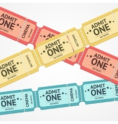 Tickets Background vector image
