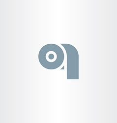 Toilet paper symbol icon vector