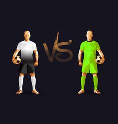 Tottenham vs barcelona soccer players holding vector