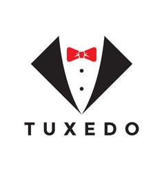 Tuxedo logo design inspiration vector
