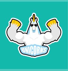 Unicorns sport logo magic horse sports team club vector