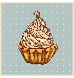 vanilla dessert vector image