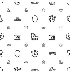 Vintage icons pattern seamless white background vector