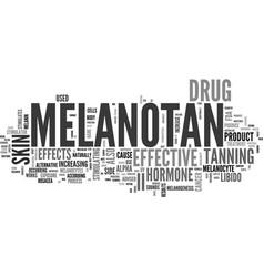 What is melanotan ii text word cloud concept vector