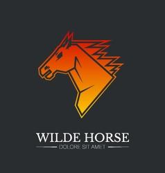 Wilde horse head logo template vector