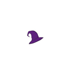 witch hat icon vector image