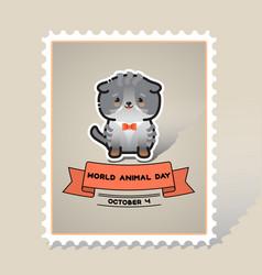 world animal day cute animal cat vector image