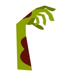 Zombie hand icon flat style vector