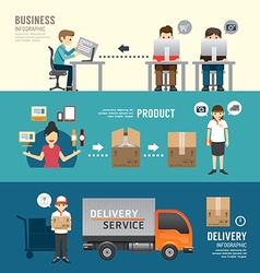 Business design e-shopping concept people set vector