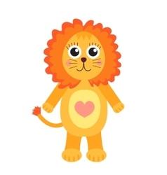 Cute cartoon character lion Children s toy lion vector image