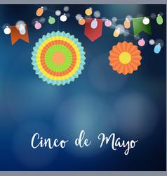 mexican cinco de mayo greeting card invitation vector image vector image