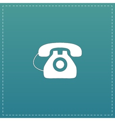 Office telephone - icon isolated vector image vector image