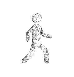 stick figure man vector image