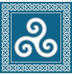 Ancient symbol triskeliontraditional celtic desig vector image vector image