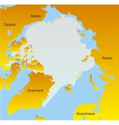 map of North pole vector image vector image