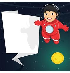 Of a cute astronaut with origa vector