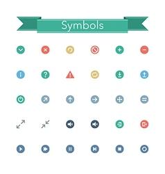 Symbols Flat Icons vector image vector image