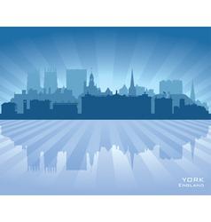 York England city skyline silhouette vector image