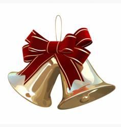 Christmas golden bells vector image vector image