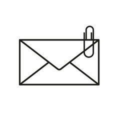 envelope with clip icons vector image vector image
