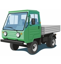 Green small truck vector image vector image