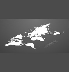 isometric world map in dark background vector image