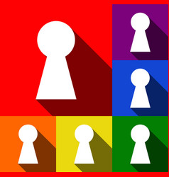 keyhole sign set of icons vector image
