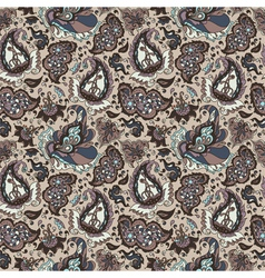 seamless background from a paisley ornament vector image vector image
